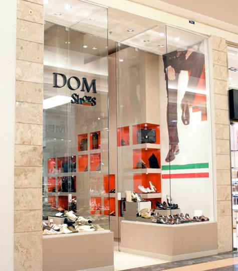 bdb70cf1c6b Fachada da Dom Shoes no Shopping Anália Franco